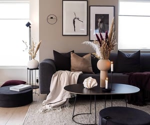 home, black, and decor image