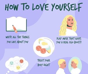 inspiration, positivity, and self love image