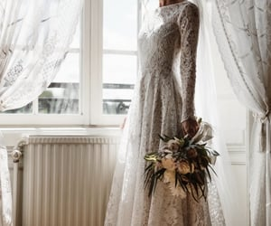 bridal, haute couture, and lace image