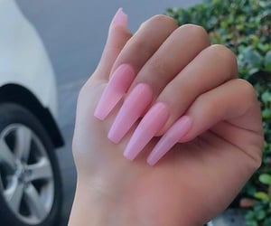 light pink, pink nails, and ombre nails image