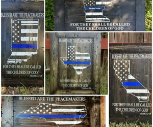 american flag, lawenforcement, and police retirement image