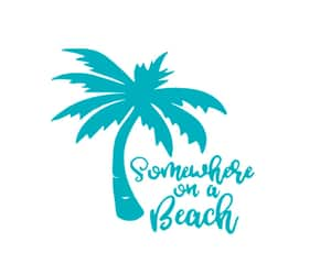 etsy, palmtree, and car vinyl decal image