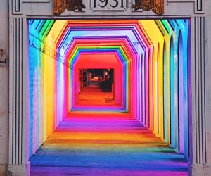 colors, neon lights, and rainbow image