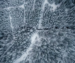 aerial, beautiful, and cold image