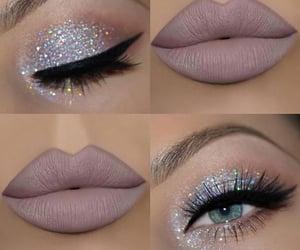 blue eyes, eye makeup, and eyelashes image