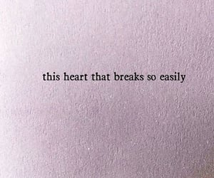 breaks, heart, and quote image