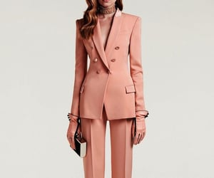 clutch, pink, and pantsuit image