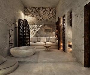 architecture, Greece, and interior image