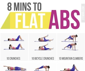 workout, abs, and fitness image