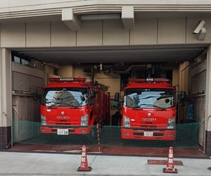 firefighter, japan, and japanese image