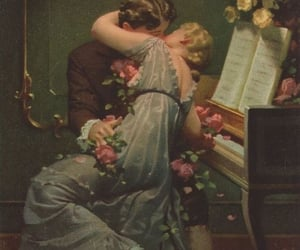 couple, art, and music image