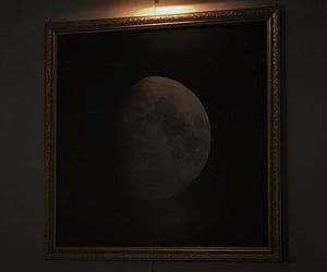aesthetic, dark, and moon image