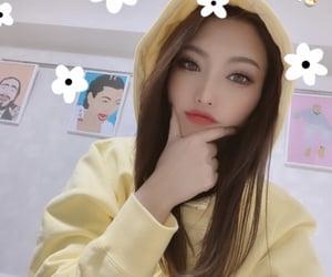 filter, hoodie, and selfie image