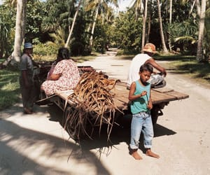 child, coconut, and Island image