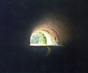 tunnel, photography, and vintage image
