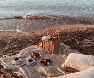 coffee, sea, and cozy image