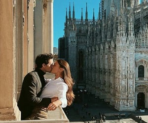 love, kiss, and milan image