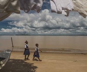 school, beach, and children image