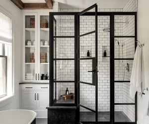 bathroom, black, and aesthetics image