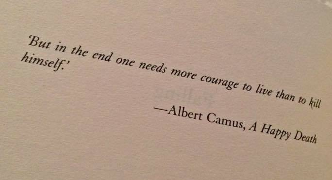 quotes, albert camus, and courage image
