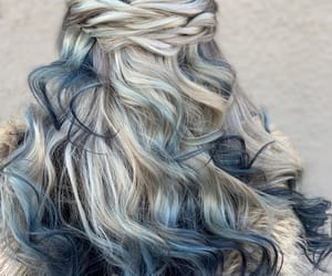 white-grey-blue hair and winter hair color image