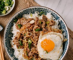 food, asian, and rice image
