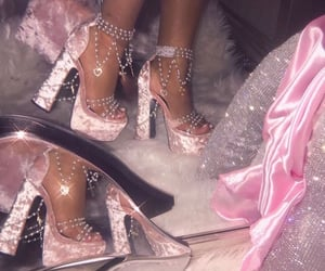 pink, aesthetic, and heels image