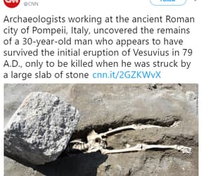 skeleton, vesuvius, and stone image