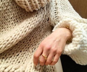 fashion, ring, and sweather image