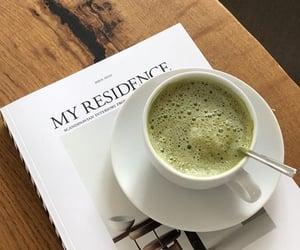 book, magazine, and coffee image