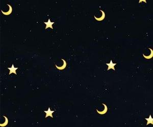 wallpaper, stars, and moon image