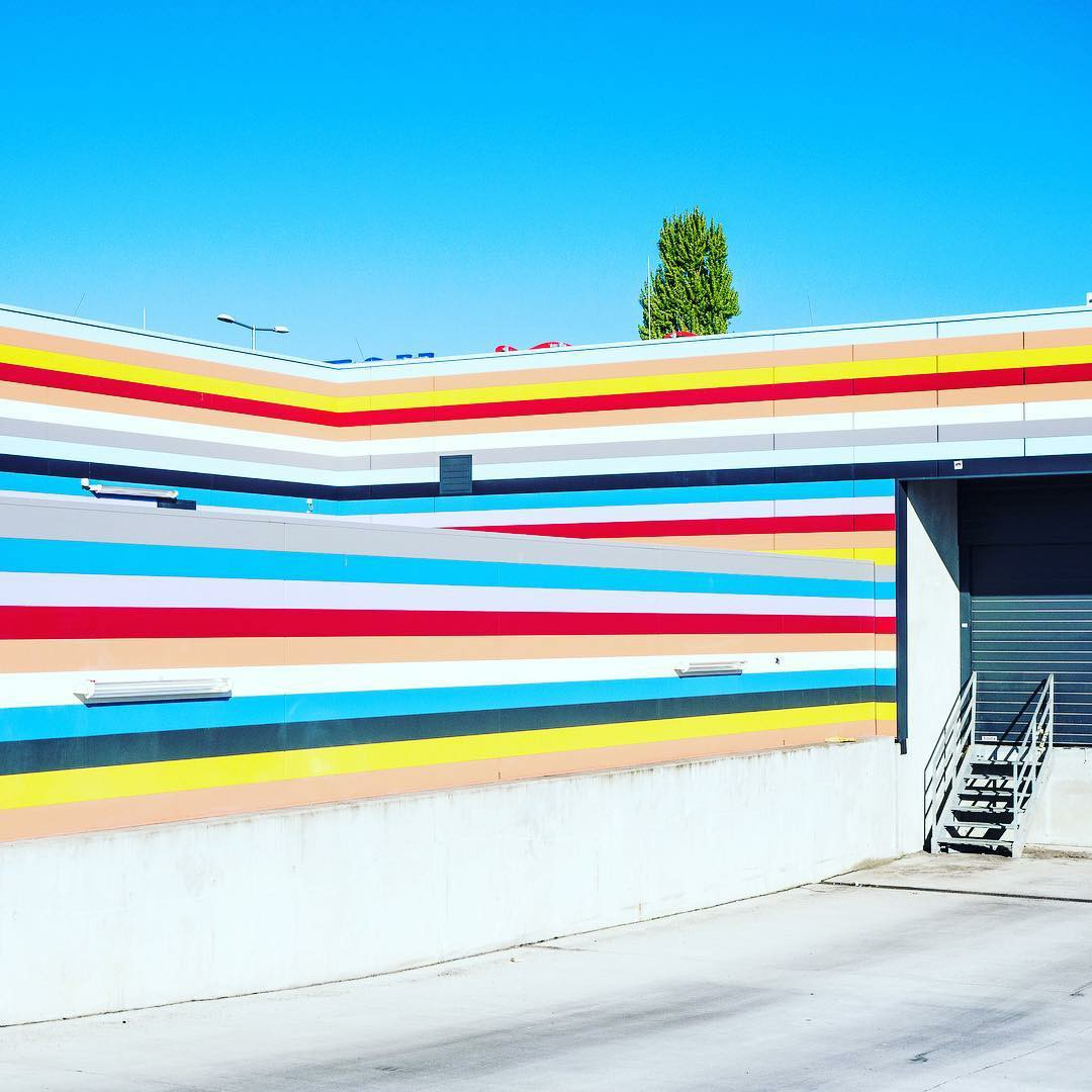 building, striped, and stripes image