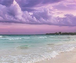 beach, nature, and pastel image