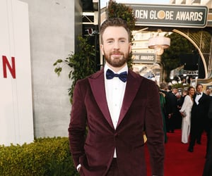 chris evans and golden globes 2020 image