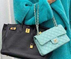bag, coat, and green image