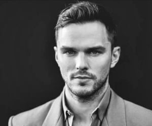 black & white and nicholas hoult image