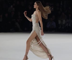 blonde, brand, and catwalk image