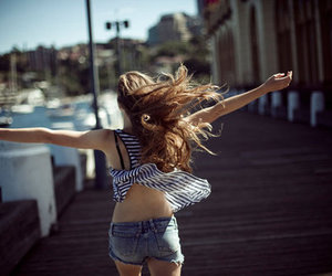 girl, hair, and freedom image