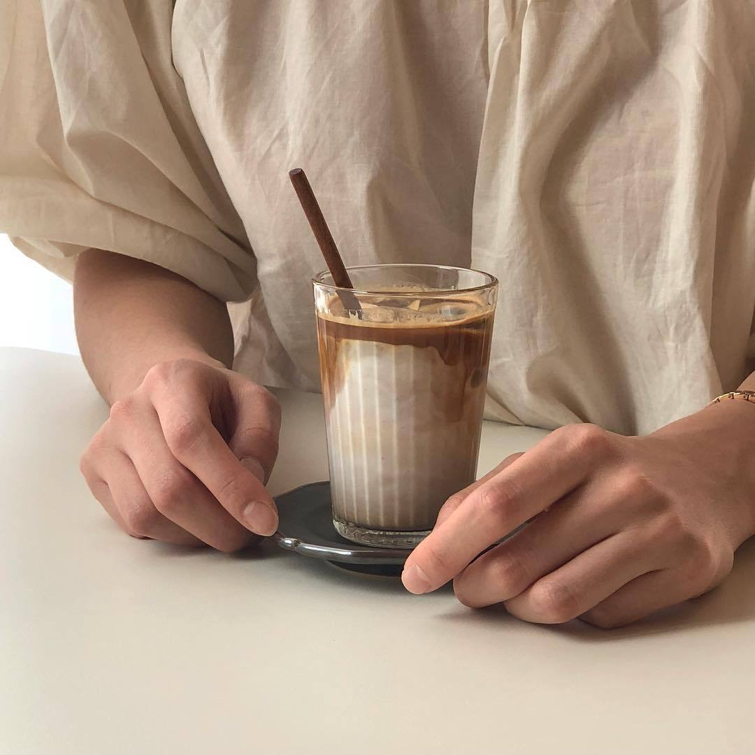 Guy Hands And Ice Coffee On We Heart It