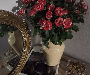 art, chic, and flowers image