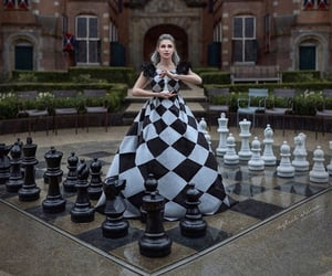 alice in wonderland, chess, and fantasy image