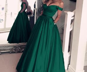 dress, beautiful prom dress, and custom evening dress image