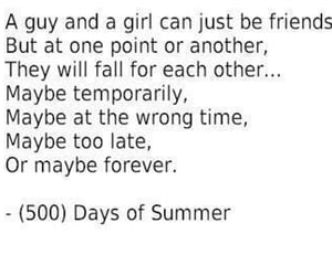 love, quotes, and 500 Days of Summer image