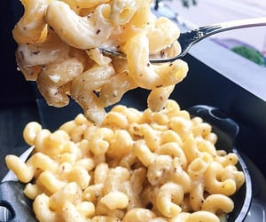 food, pasta, and mac and cheese image