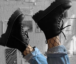 alternative, black shoes, and boots image