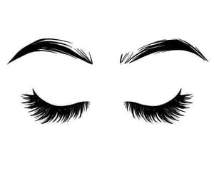 eyelashes, make up, and maquillaje image