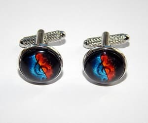 etsy, music symbol, and music cuff links image