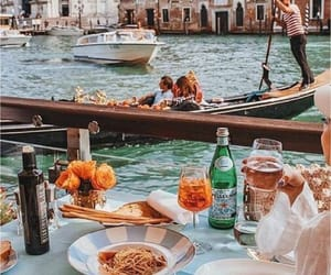 travel, venice, and food image