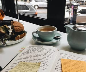 book, coffee, and stationary image