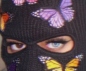 aesthetic, butterfly, and eyes image